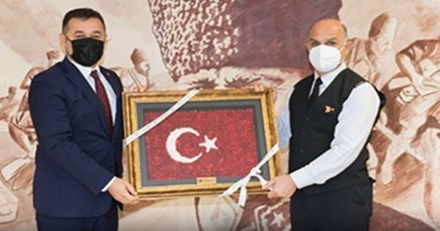 Başkan Yücel'den General Başoğlu'na ziyaret