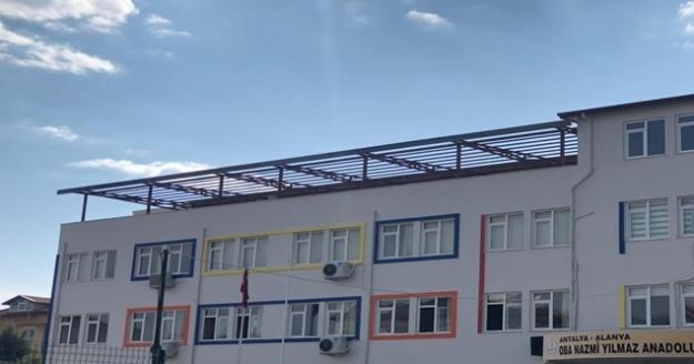 Büyükşehir'den  liseye çatı desteği