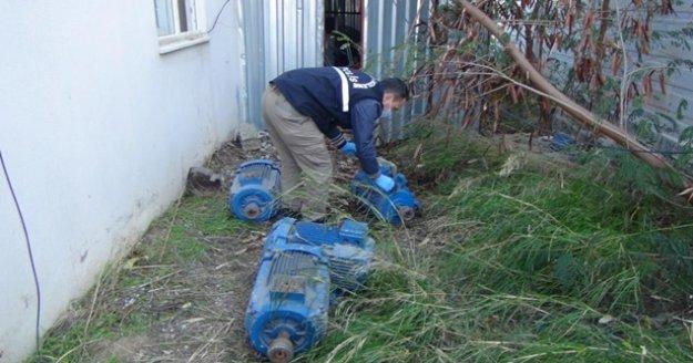 Depodan 10 adet dalgıç pompası çalan şüpheli tutuklandı