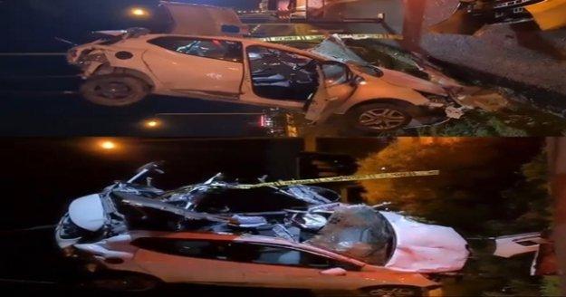 Takla atarak hurdaya dönen otomobilin sürücüsü hayatını kaybetti