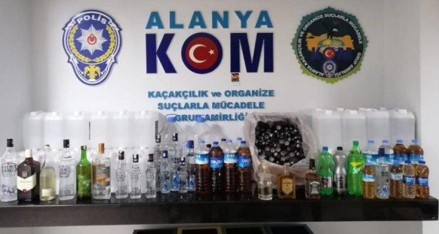 Alanya'da sahte içki operasyonu