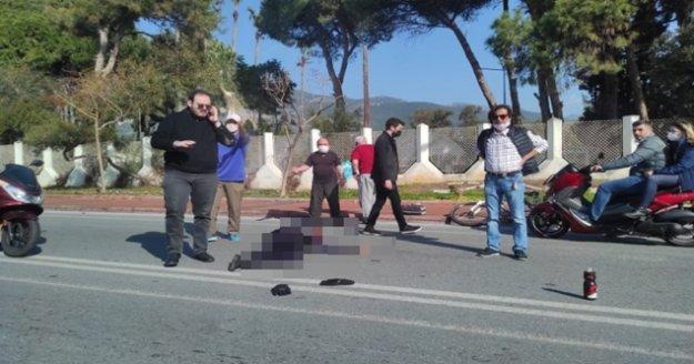 Alanya'da motosiklet ile bisiklet çarpıştı: 1 yaralı