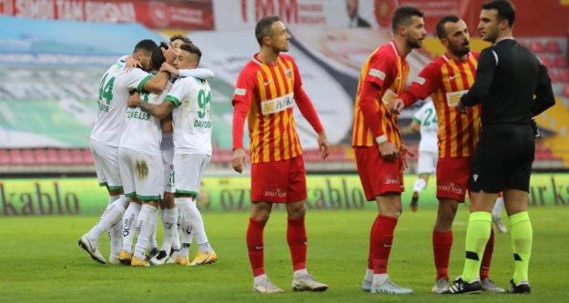 Alanyaspor Kayseri'den 1 puanla dönüyor