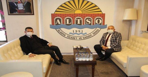 Kaymakam Ürkmezer'den başkan Şahin'e ziyaret