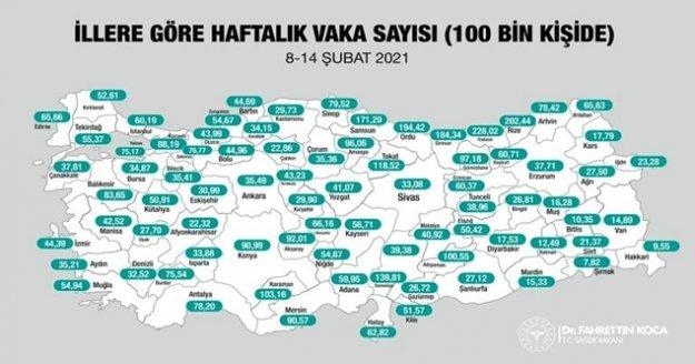 Koronavirüs vaka sayısında Antalya büyük iller arasında kötü durumda...