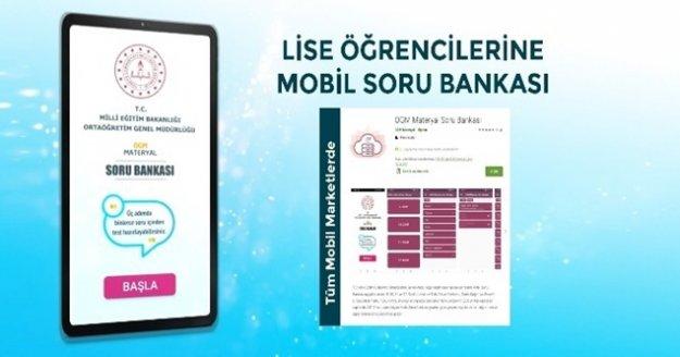 Lise öğrencileri için 15 bin soruluk Mobil Soru Bankası