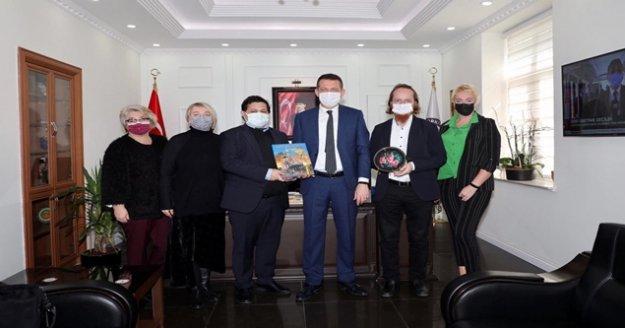 Rusya Federasyonu Başkonsolosluğu'ndan Kaymakam Ürkmezer'e ziyaret
