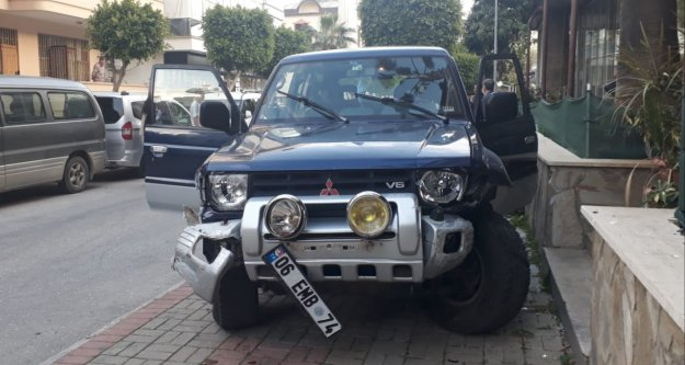 Alanya'da ilginç kaza