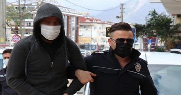 Alanya'da otelden çuval çuval eşya çalan şüpheli tutuklandı