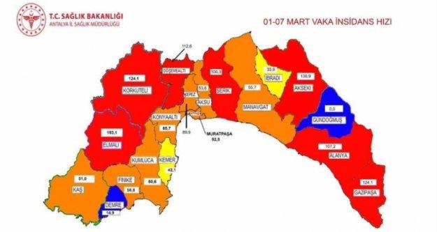 Antalya'nın o ilçesinde korona yüzde 70 arttı