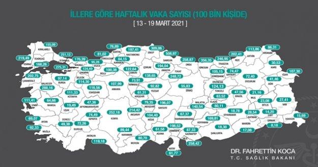 Bakan Koca açıkladı: Antalya artık kırmızı renkte
