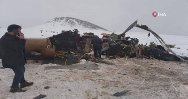 Bitlis'te askeri helikopter düştü: 10 askerimiz şehit oldu