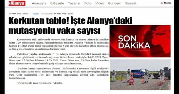 Bu paylaşım Alanya'da panik yaşattı!Vatandaşlar telefona sarıldı