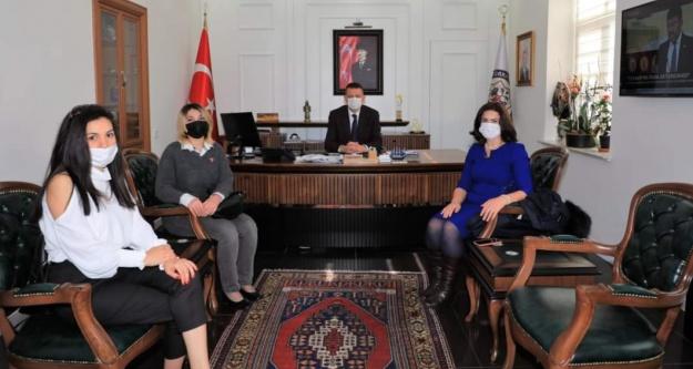 Kaymakam Ürkmezer'e Alanya Azerbaycanlılar Derneğinden ziyaret
