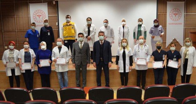 Kaymakamdan sağlık çalışanlarına teşekkür belgesi