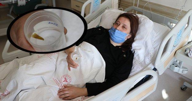 Nefes darlığı ve şiddetli ağrı çeken hastanın ciğerinden Arnavut biberi çıktı