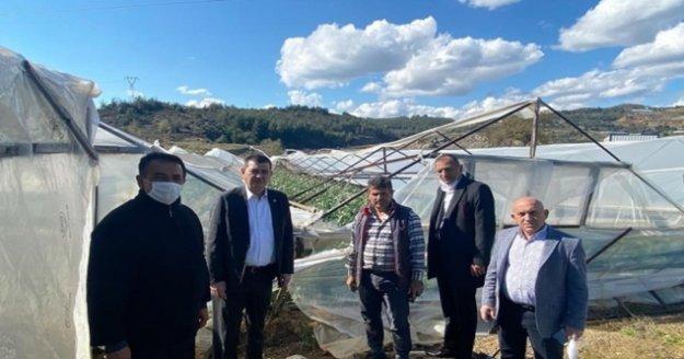 Türkdoğan'dan üreticilere ziyaret
