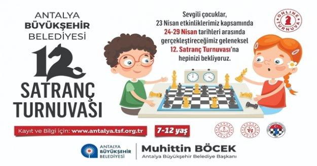 23 Nisan'da çevrimiçi satranç turnuvası
