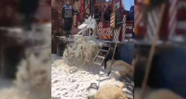 Alanya Belediyesi taştan su çıkardı