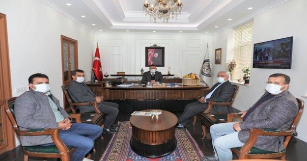 Alanya Pazarcılar Odası Başkanı Yiğit'ten Kaymakam Ürkmezer'e ziyaret