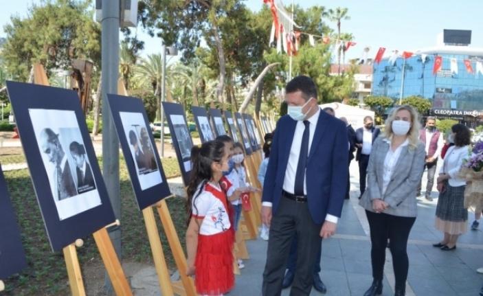 Alanya'da 'Atatürk Çocukları' konulu sergi açıldı