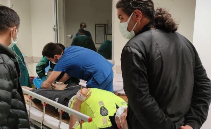 Gazipaşa'da polise çarpıp kaçan alkollü sürücü nefes kesen kovalamaca sonucu yakalandı