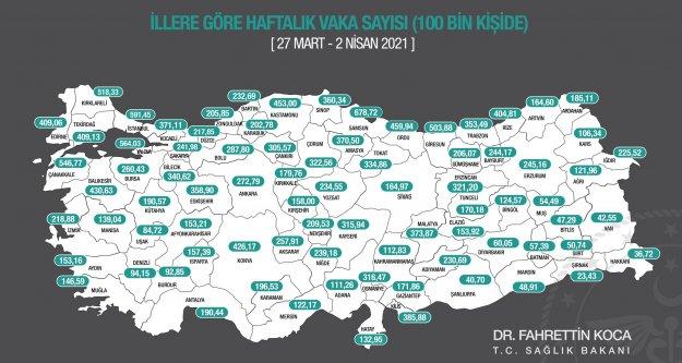 Yeni korona risk haritası yayınlandı! Antalya'da korkunç artış