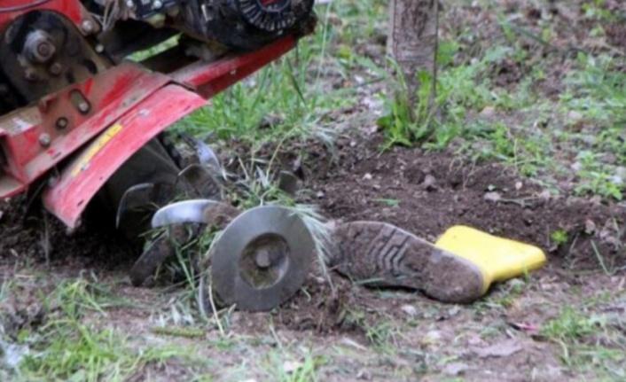 Alanya'da ayağını çapa makinasına kaptıran adam yaşam savaşı veriyor