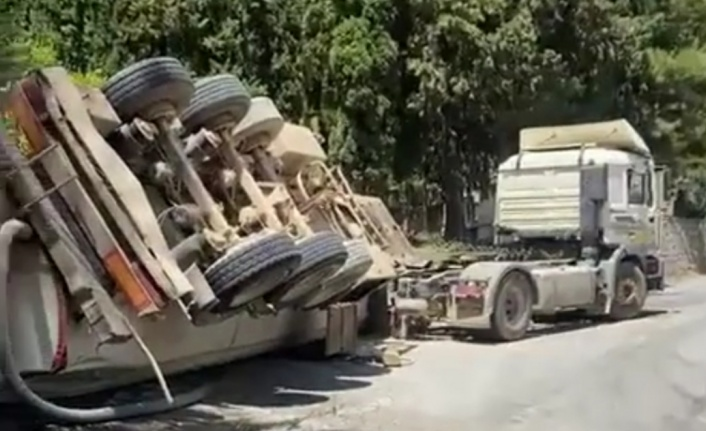 Alanya'da korkutan tanker kazası