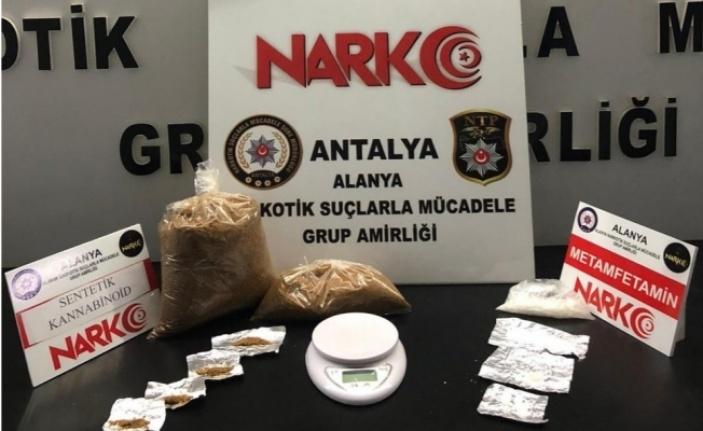 Alanya'da uyuşturucu operasyonu: 1 kilo 29 gram bonzai ele geçirildi