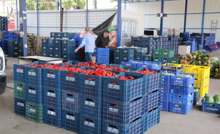 Antalya halinde semt pazarı hareketliliği başladı
