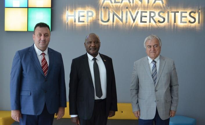 Kenya'nın Ankara Büyükelçisinden Alanya HEP'e ziyaret