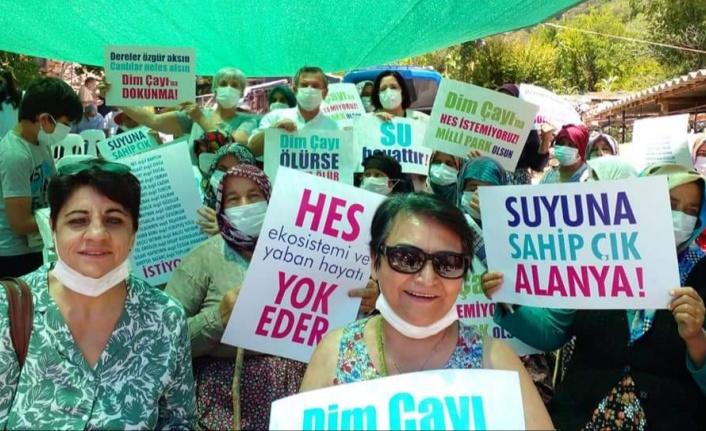 Alanya'da HES'e karşı topyekün mücadele