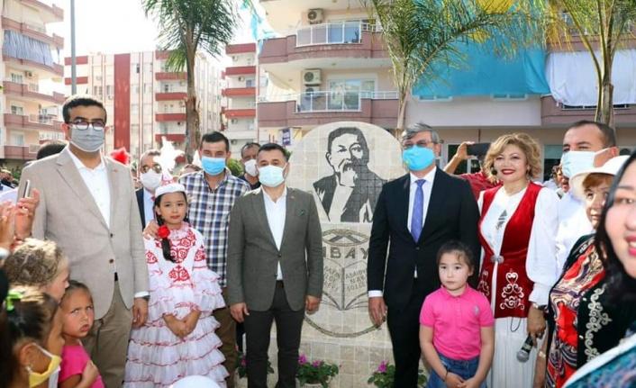 Alanya'da Kazak şairin ismi verilen parka açılış