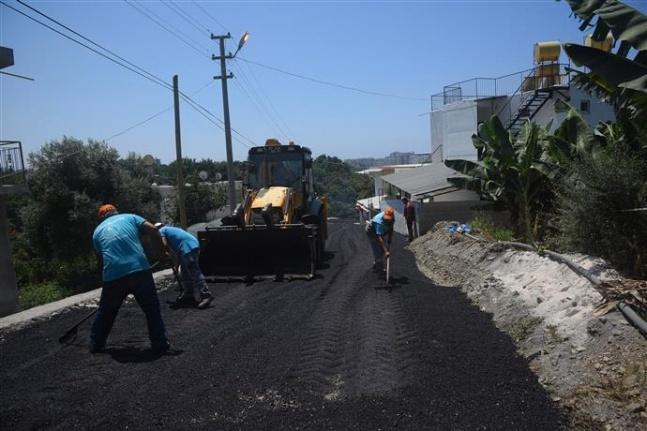Alanya Kestel Barcın Sokak asfaltlandı