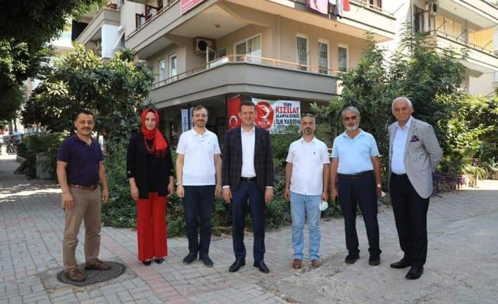 Kaymakam Ürkmezer'den Alanya Kızılay'a ziyaret