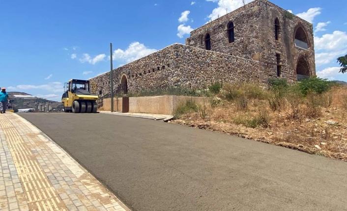 Syedra Av Köşküne beton yol
