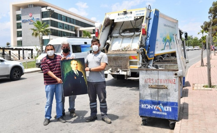 Temizlik işçilerinin Atatürk sevgisi