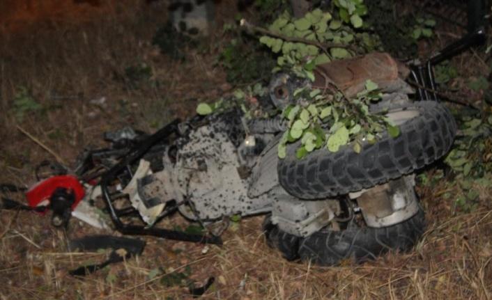 Ters yöne giren motosiklet sürücüsü göz göre göre ölüme gitti