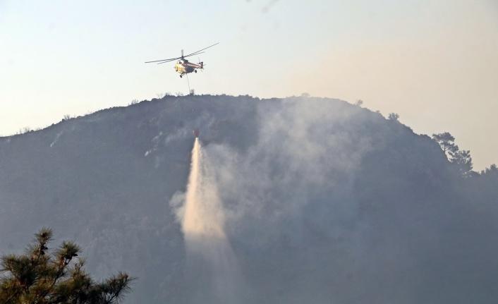 Turizm merkezinde çıkan yangında 855 dönüm alan kül oldu