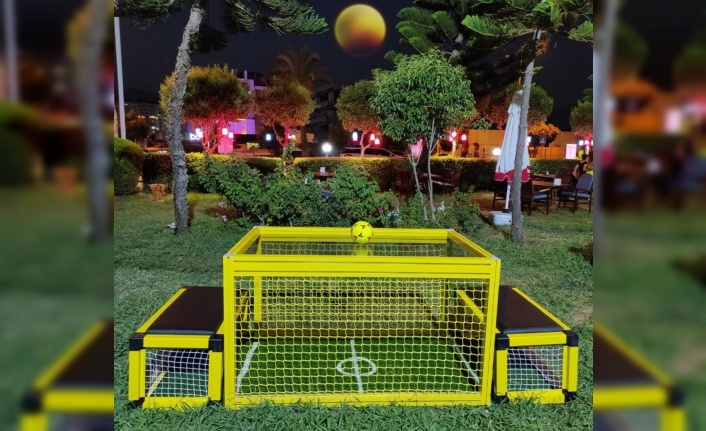 Alanya'da ilk masa futbolu Oba Çay Bahçesi'nde