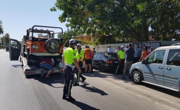 Alanya'da safari araçları denetlendi, belgesiz olanlar trafikten men edildi