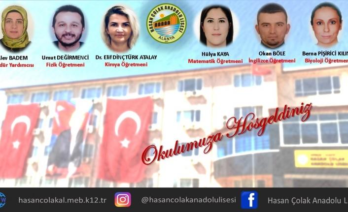 Alanya Hasan Çolak Anadolu Lisesi'ne 6 yeni öğretmen ataması