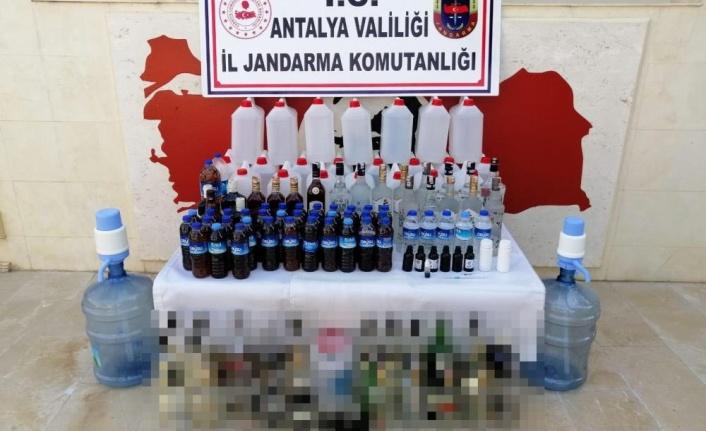 Antalya'da kaçak içki operasyonu