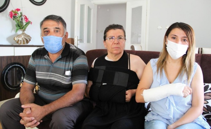 Antalya'da şahitlik meselesinde, anne ve kızı çocukları önünde plaj şemsiye sopasıyla darp edildi