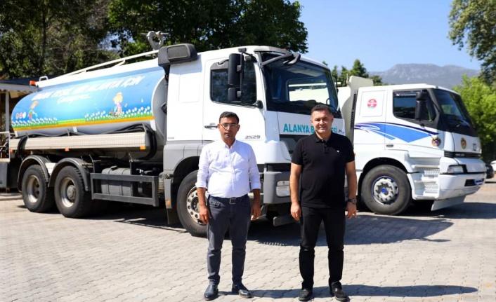 Başkan Yücel'den kuraklıkla boğuşan üreticiye su tankerli çözüm