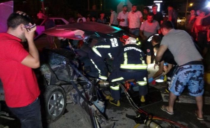 Kamyonete arkadan çarpan alkollü sürücü ölümden döndü