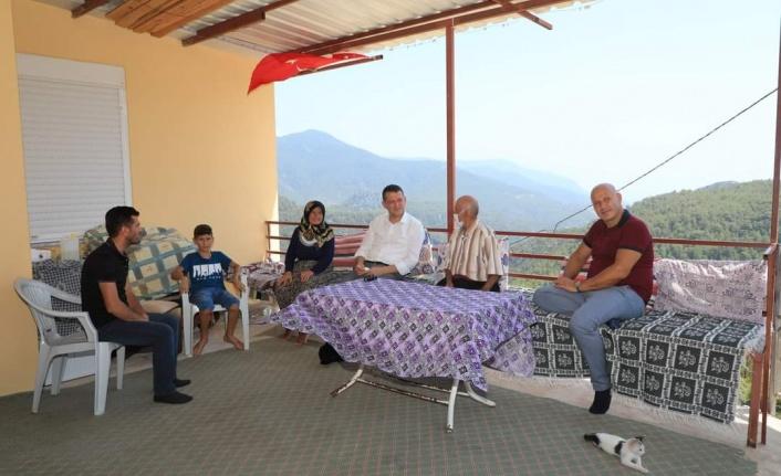 Kaymakam Ürkmezer'den şehit ve gazi ailelerine bayram ziyareti