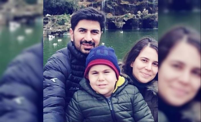 Kazada hayatını kaybeden polis memuru ve çocuğu son yolculuğuna uğurlandı