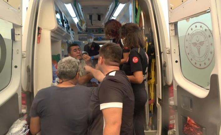 Yangından son anda kurtuldu, ambulans içerisindeki feryadı yürekleri dağladı
